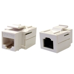 WholesaleCables.com 310-220WH Cat5e Keystone Inline Coupler White RJ45 Female