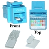WholesaleCables.com 311-120BL Cat5e Keystone Jack Blue Toolless RJ45 Female