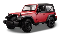 Jeep Wrangler Hard Top (2014, 1/18 scale diecast model car, Red) 31676R