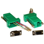 WholesaleCables.com 31D1-1740GR Modular Adapter Green DB9 Female to RJ45 Jack
