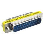 WholesaleCables.com 31D3-22100 Serial Mini Gender Changer / Coupler DB25 Male to DB25 Male