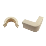 WholesaleCables.com 31R1-007IV 3/4 inch Surface Mount Cable Raceway Ivory Outside Elbow 90 Degree