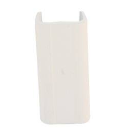 WholesaleCables.com 31R2-002IV 1.25 inch Surface Mount Cable Raceway Ivory Joint Cover