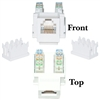 WholesaleCables.com 320-120WH Keystone Insert White Phone/Data Jack RJ11 / RJ12 Female to 110 Type Punch Down