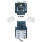 WholesaleCables.com 326-120BK Cat6 Keystone Jack Black RJ45 Female to 110 Punch Down