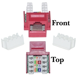 WholesaleCables.com 326-120RD Cat6 Keystone Jack Red RJ45 Female to 110 Punch Down