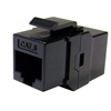WholesaleCables.com 326-220BK Cat6 Keystone Inline Coupler Black RJ45 Female