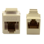 WholesaleCables.com 326-220WH Cat6 Keystone Inline Coupler White RJ45 Female