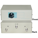 WholesaleCables.com 40B1-01602 AB 2 Way Switch Box BNC Female