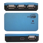 WholesaleCables.com 40U2-14260 USB 2.0 High Speed Desktop Hub 4 Port Self Powered Multi TT