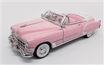 WholesaleCables.com Elvis Pink Cadillac Convertible (1949, 1:18 scale diecast model car, Pink) 48887EP