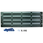 WholesaleCables.com 68PP-03096 Rackmount 96 Port Cat5e Patch Panel Horizontal 110 Type 568A & 568B Compatible 3U