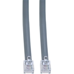 WholesaleCables.com 8102-66107 7ft Telephone Cord (Data) RJ12 6P / 6C Silver Satin Straight