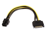 WholesaleCables.com 8inch SATA 15pin to 6pin PCI Express Card Power Cable 8494