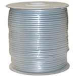 WholesaleCables.com 8604-1000F-28 1000ft Bulk Phone Cord Silver Satin 28/4 (28 AWG 4 Conductor) Spool