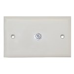 WholesaleCables.com ASF-20251 TV Wall Plate with 1 F-pin Coupler Ivory