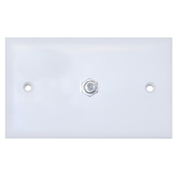 WholesaleCables.com ASF-20251WH TV Wall Plate with 1 F-pin Coupler White