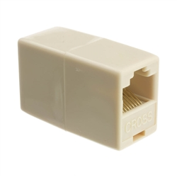 WholesaleCables.com MC-8P8C-RE RJ45 8P8C (Reverse) Telephone Inline Coupler