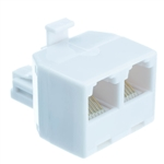 WholesaleCables.com PA-6P6C-ST Phone Splitter (Straight) RJ11/RJ12 6P6C Male to 2 RJ11/RJ12 6P6C Female