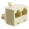 WholesaleCables.com PA-8P8C-ST Phone Splitter (Straight) RJ45 8P8C Male to 2 RJ45 8P8C Female