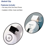 Med-Pat Phones Beige/White Bedrail Clip