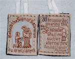 Brown Scapular with White Cord