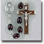 Brown Wood Handcrafted Rosary