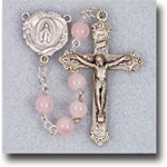 6mm Genuine Rose Quartz Rosary