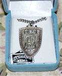 St. Michael Shield Sterling Silver Medal
