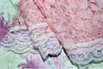 Short Pink Lace Mantilla