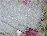 Long White Lace Mantilla