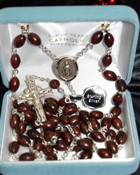 Cocoa Wood Rosary