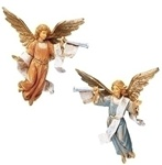 Fontanini Trumpeting Angels - 5 Inch, 2 Piece