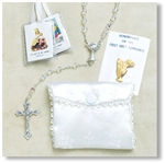Girl's First Communion Rosary Set