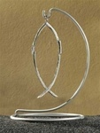 Silver Dimensions of Christ Cross Fish - 4 Inch