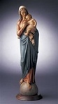 Stoneware Madonna and Child - 20 Inch