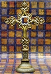 Gold Standing Cross- Texas Catholic Superstore