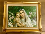 "16"" x 20"" Madonna of the Lillies Picture"