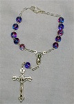 Blue and Purple Auto Rosary (One Decade)
