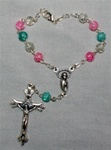 Multi Colored Auto Rosary (One Decade)