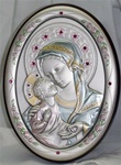 Sterling Silver Salerni Oval Madonna and Child