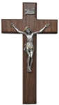 "10"" Walnut Tutone Crucifix- Texas Catholic Superstore"