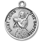 Saint John the Baptist Sterling Silver Medal