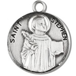 Saint Stephen Sterling Silver Medal