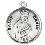 Saint David Sterling Silver Medal