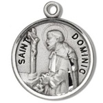 Saint Dominic Sterling Silver Medal