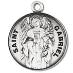Saint Gabriel the Archangel Sterling Silver Medal