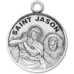 Saint Jason Sterling Silver Medal