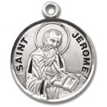 Saint Jerome Sterling Silver Medal