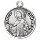 Saint Richard Sterling Silver Medal